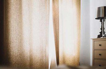 blackout curtains to darken room